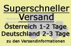 Superschneller Versand in Österreich und Deutschland