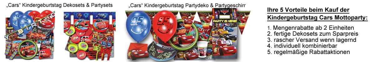 Kindergeburtstag Cars Banner