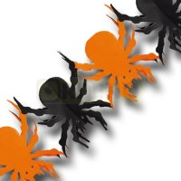 Halloween Girlande Spinnen