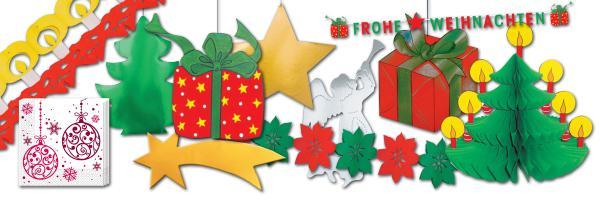 Weihnachten Partydeko
