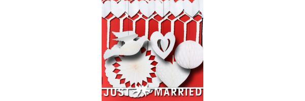 Hochzeitsdekoration weiß