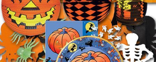 Halloween Partydekoration, Partygeschirr & Dekosets