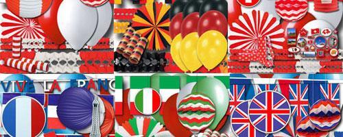 Große Auswahl an Länderdekorationen