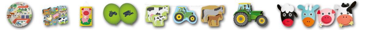 Kindergeburtstag Bauernhof Motivbanner