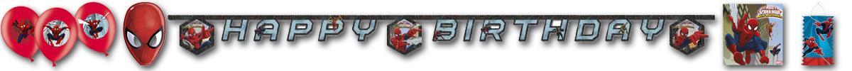 Kindergeburtstag Spiderman Motivbanner