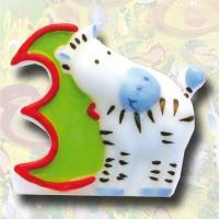 """Zahlenkerze """"Safari"""" 3"""