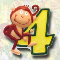 """Zahlenkerze """"Safari"""" 4"""