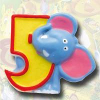 """Zahlenkerze """"Safari"""" 5"""