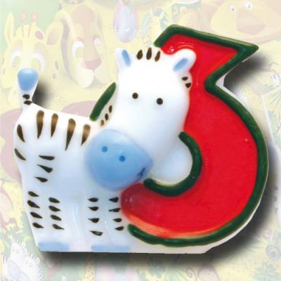 """Zahlenkerze """"Safari"""" 6"""