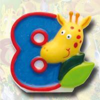 """Zahlenkerze """"Safari"""" 8"""