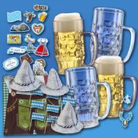Oktoberfest Partybox mit 0,3 Liter Bierkrügen aus...