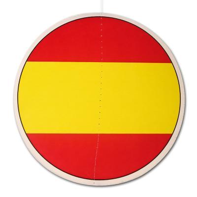 13,5 cm runder Dekohänger mit Spanien Flagge Motiv.