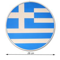 Dekohänger mit Griechenland Flagge Motiv aus Karton,...