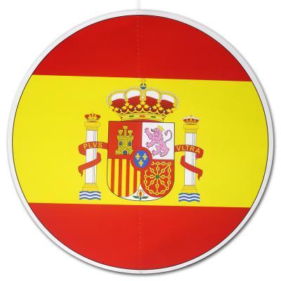 Großer, runder Dekohänger mit rot-gelber Spanienflagge und Wappen