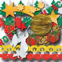 Großes Partydekoset Weihnachten mit diverser Partydeko im...