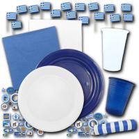 Blau-weißes Griechenland Partygeschirr Set mit...