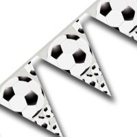 Kunstoff Wimpelketten mit Fußball Motiven