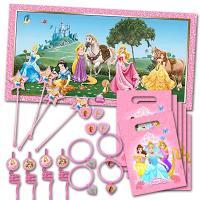 Partydekoset für den Kindergeburtstag Prinzessin.
