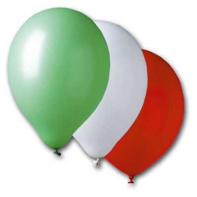 10 grüne, weiße und rote Luftballons im Sparset. Passend für Italien und Mexiko Länderdekorationen und dreifärbige Mottoparties.