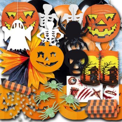 Großes Halloween Partydeko Set für eine dekorative Mottoparty.