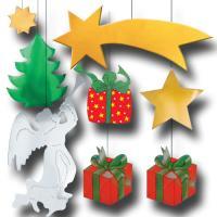 Partydeko Set mit weihnachtlichen Dekohängern...