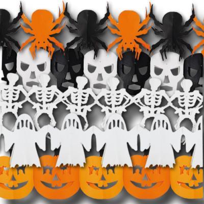 Originelle Halloween Girlanden im Sparset (Skelett, Geist, Kürbis, Spinne und Totenkopf)