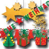 Partydekoset Weihnachten Grundausstattung mit Dekohängern...
