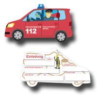 """""""Feuerwehr"""" Kindergeburtstag Einladungskarten..."""