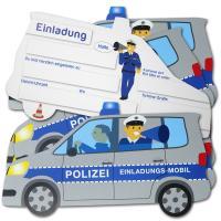 """""""Polizei"""" Kindergeburtstag Einladungskarten..."""