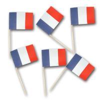 Flaggenpicker mit Frankreich Fähnchen in blau-weiß-rot.