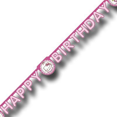 """""""Hello Kitty"""" Kindergeburtstag Buchstabengirlande HAPPY BIRTHDAY   1 Stück"""