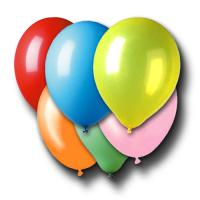 Luftballons in diversen Farben gemischt, für die passende...