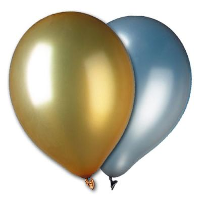 Luftballons gold und silber gemischt