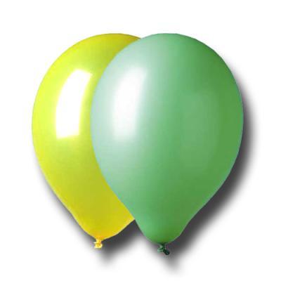 Luftballons grün und gelb