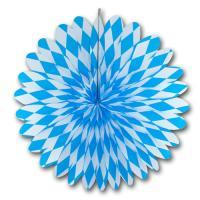1 Rosette mit blau-weißer, bayrischer Raute Muster für...