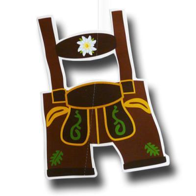 1 Dekohänger mit Lederhosen Motiv für die Oktoberfest Dekoration