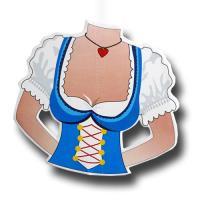 1 Dekohänger Dirndl für die Oktoberfest Partydeko