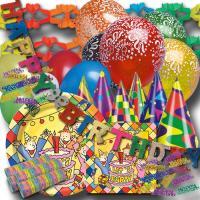 """Buntes Kindergeburtstag Partyset """"Let\'s Party"""" mit..."""