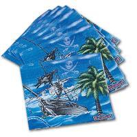 Blaue Papierservietten mit abenteuerlichem Piratenschiff...