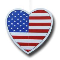 """""""USA"""" Dekohänger Herzform"""