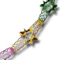 Partydeko Girlande bunt aus Glitzer-Metallic-Folie