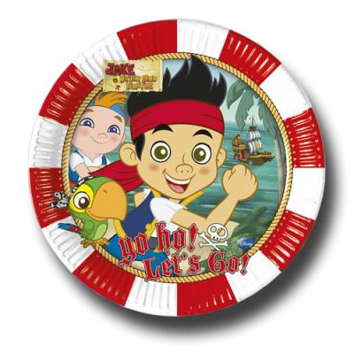 6 Pappteller für die Mottoparty zum Kindergeburtstag Jake der Pirat