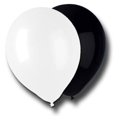 """Luftballonset """"schwarz-weiß"""""""