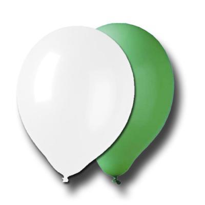 Luftballons Set mit grünen und weißen Luftballons für Ihre Partydekoration