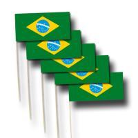 """""""Brasilien"""" Qualitäts-Fähnchen am..."""