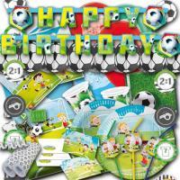 """Großes Kindergeburtstag """"Fußball"""" Partyset mit Partydeko..."""