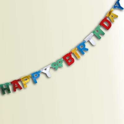 "Buchstabenkette ""Happy Birthday"""