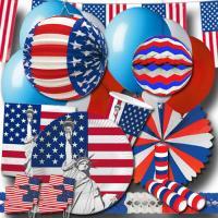 """""""USA"""" Partyset XXL"""