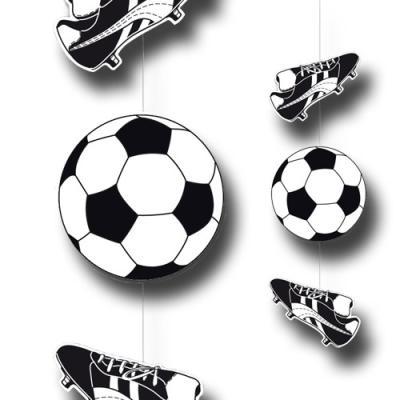 """""""Fußball"""" Party Dekohänger mit Fußballschuh schwarz-weiß   1 Stück"""