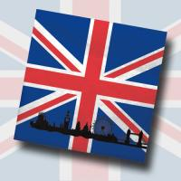 """""""Großbritannien"""" Motivservietten"""